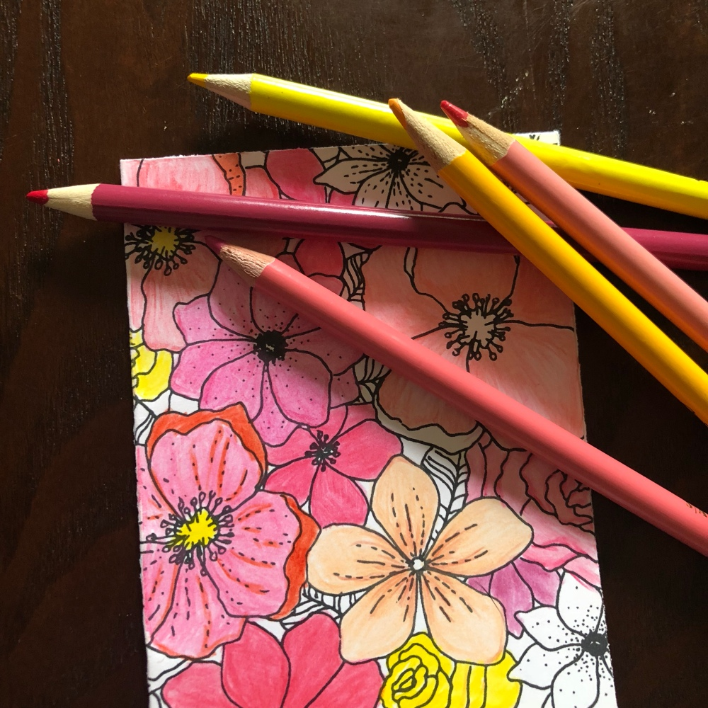 notecard with pencils